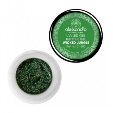 Gel unghii Alessandro UV Glitter Wicked Jungle 5gr