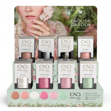 Display Lac unghii semipermanent CND Shellac English Garden Spring 20