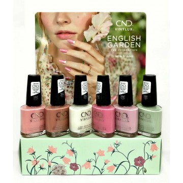 Display lac unghii saptamanal CND Vinylux English Garden Spring 6x15ml