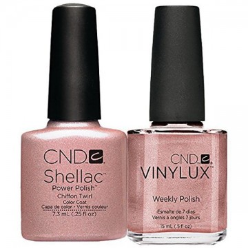 Kit CND Shellac SI Vinylux Ghilded Dreams Chiffon