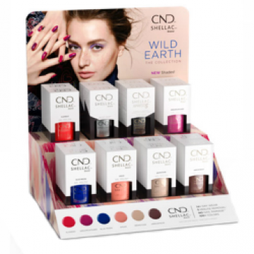 Set CND Shellac Wild Earth Pop Display
