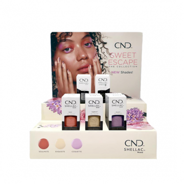 Display Lac de unghii semipermanent CND Shellac Spring 10 buc