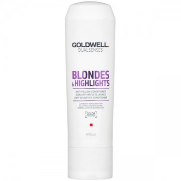 Conditioner Goldwell Dual Sences Blonde & Highlights Anti-Brass pentru par blond 200ml