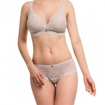 Ipomia sutien Light Lace wireless bra almond
