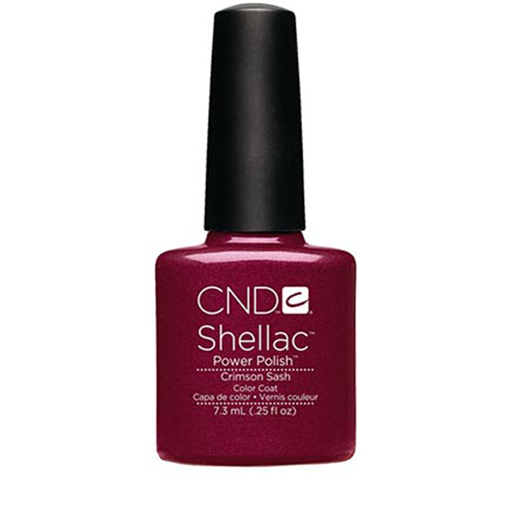 Lac unghii semipermanent CND Shellac Crimsin Sash 7.3ml