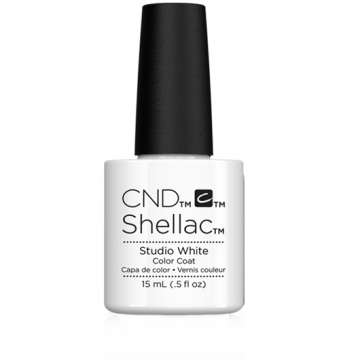 Lac unghii semipermanent CND Shellac Jumbo Studio White 15ml