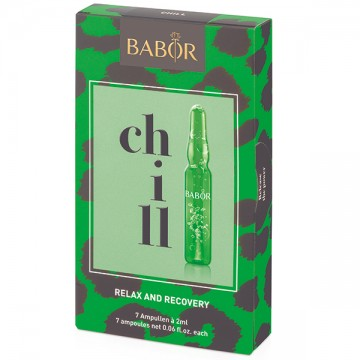 Fiole Babor Chill Out cu efect relaxant si antiageing pentru ten 7 x 2 ml