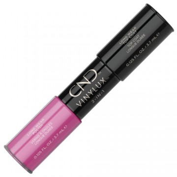 Lac unghii saptamanal 2 in 1 CND Vinylux Hot Pop Pink & Top 2x3.7ml