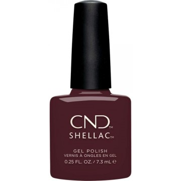 Lac unghii semipermanent CND Shellac BLACK CHERRY 7.3 ml