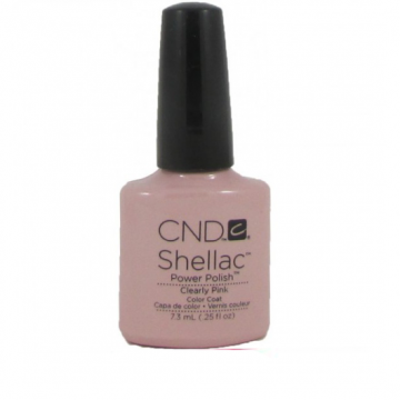 Lac unghii semipermanent CND Shellac Clearly Pink 7.3ml