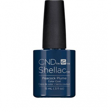 Lac unghii semipermanent CND Shellac Jumbo Peacock Plum 15ml