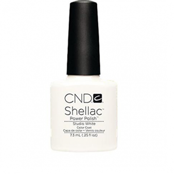 Lac unghii semipermanent CND Shellac Studio White 7.3ml
