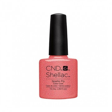 Lac unghii semipermanent CND Shellac Sparks Fly 7.3ml