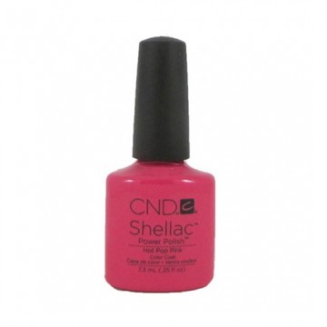 Lac unghii semipermanent CND Shellac Hot Pop Pink 7.3ml