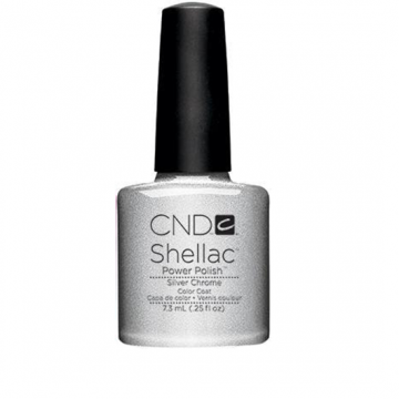 Lac unghii semipermanent CND Shellac Silver Chrome 7.3ml