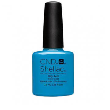 Lac unghii semipermanent CND Shellac Digi Teal 7.3ml