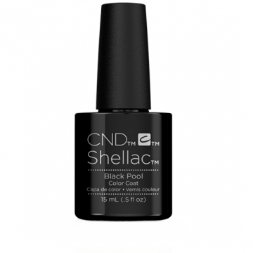 Lac unghii semipermanent CND Shellac Jumbo Black Pool 15ml