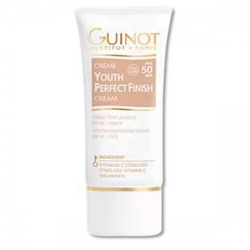 Crema Guinot Youth Perfect Finish FPS 50 efect antiageing si luminozitate pentru ten 30ml
