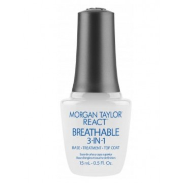 Base-Treatment-Top Coat Morgan Taylor React Breathable 3 in 1 15ml
