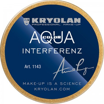 Fard crema Kryolan Aquacolor Interferenz Gold pentru fara si corp 55ml