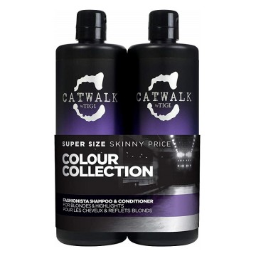 Set Sampon si Conditioner Tigi Catwalk Fashionista Tween Duo pentru par blond