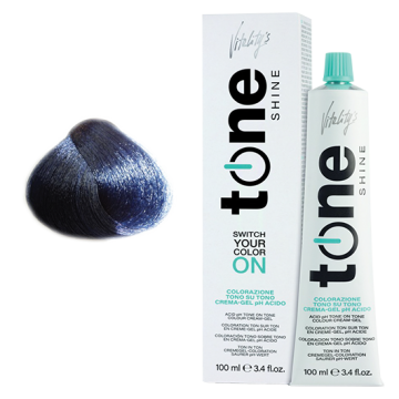 Vopsea semipermanenta de par Vitality's Tone Intense Blue Black fara amoniac 100ml