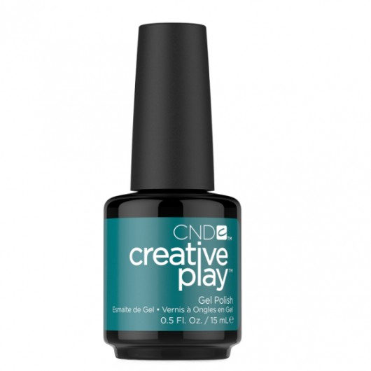 Lac unghii semipermanent CND Creative Play Gel #432 Heat Over Teal 15ml