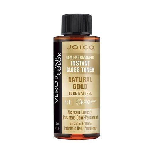 Vopsea de par demipermanenta Joico Vero K-Pak Color Gloss Toner Natural Gold 60ml