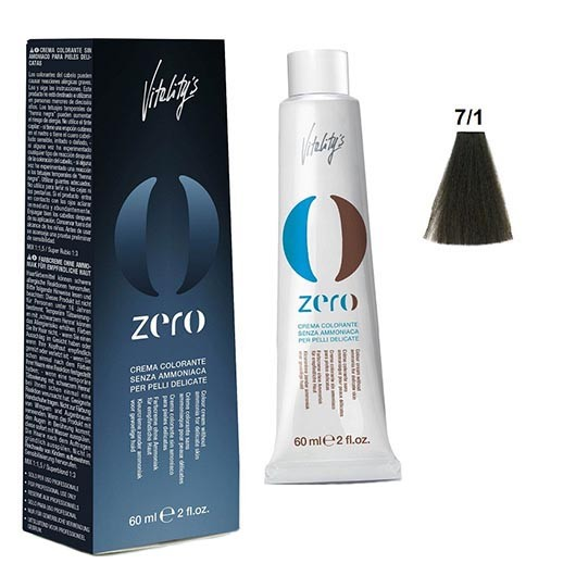 Vopsea par fara amoniac Vitality's New Zero Cream 7/1 60ml